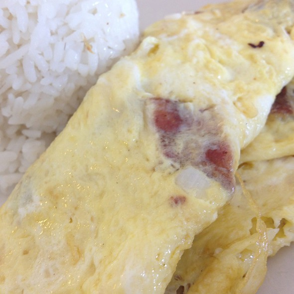 Bacon And Round Onion Omelette