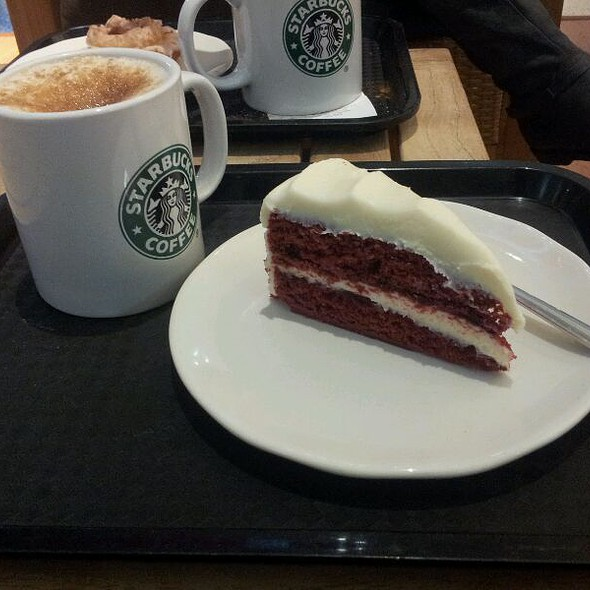 Toffee Nut Latte & Red Velvet Cake @ Starbucks