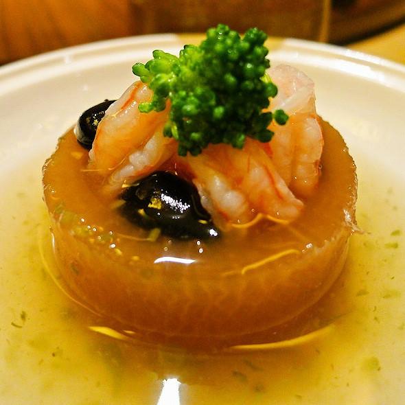 boiled radish with white miso sauce @ Haiyatt Garden Hotel