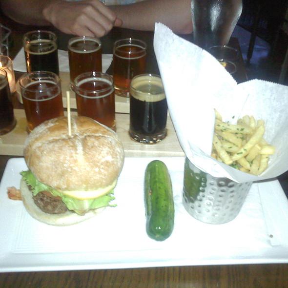 New england burger  @ Plan B Burger Bar & Tavern