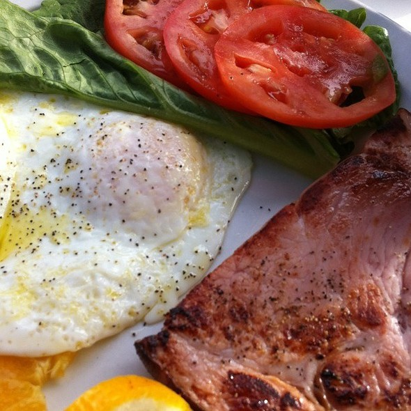 Ham Steak And Eggs