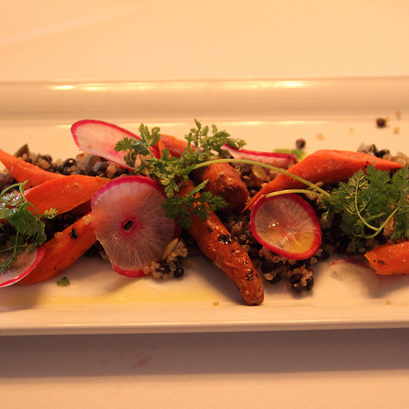 Charcoal Roasted Carrot Salad - Baldanza at The Farmhouse, Bedford, NY