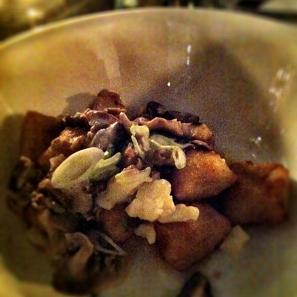 Poutine, Fried Gnocchi, Mushroom Ragu, Cheese Curds, Creme Fraiche @ Beast Restaurant