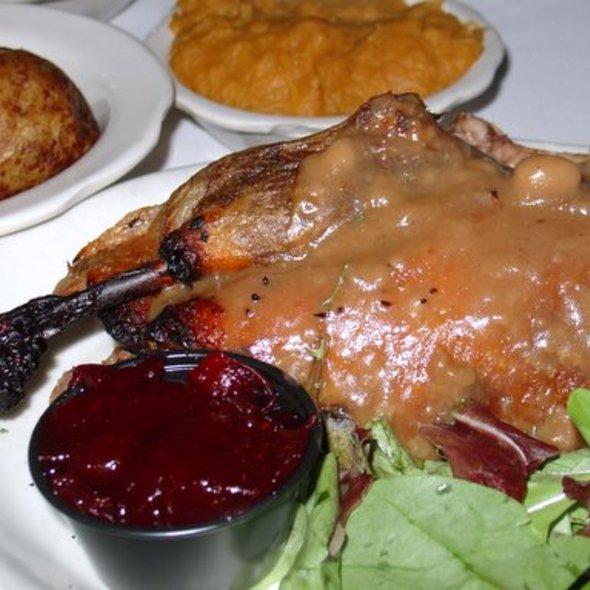 Roasted Duck @ Old Mill Restaurant & Crckrbrl