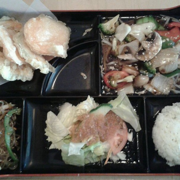 Vegetable Lunch Box @ Sushi Dragon