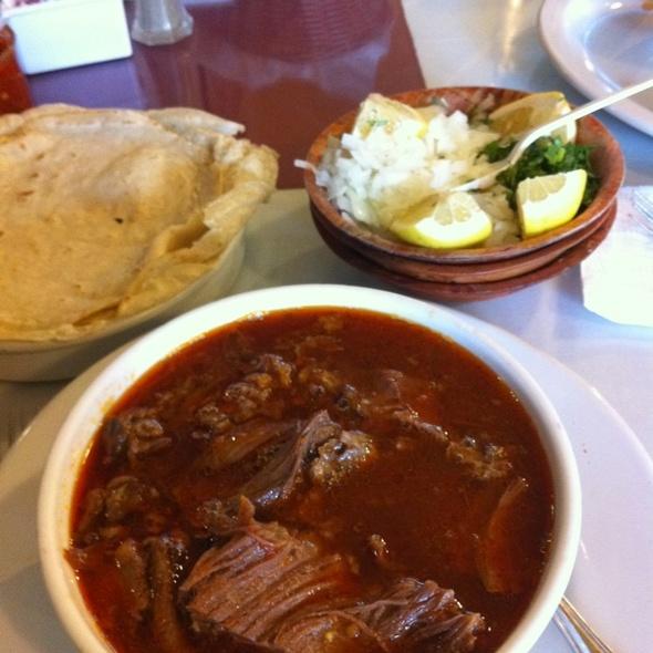 "Braised Lamb Shank ""Birria"" @ Gallardos Mexican Food"