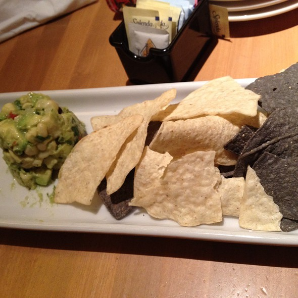 White Corn Guacamole & Tortilla Chips  @ California Pizza Kitchen