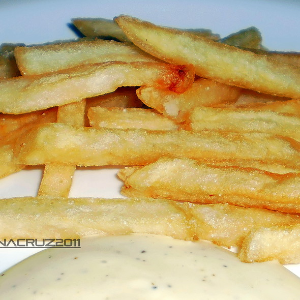 French Fries with Caesar Salad Dip @ Home