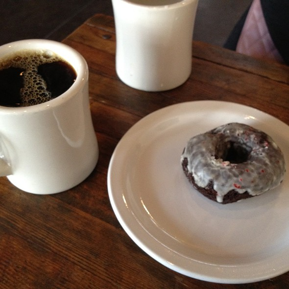Spiced Chocolate Doughnut And Four Barrel Coffee @ Four Barrel Coffee
