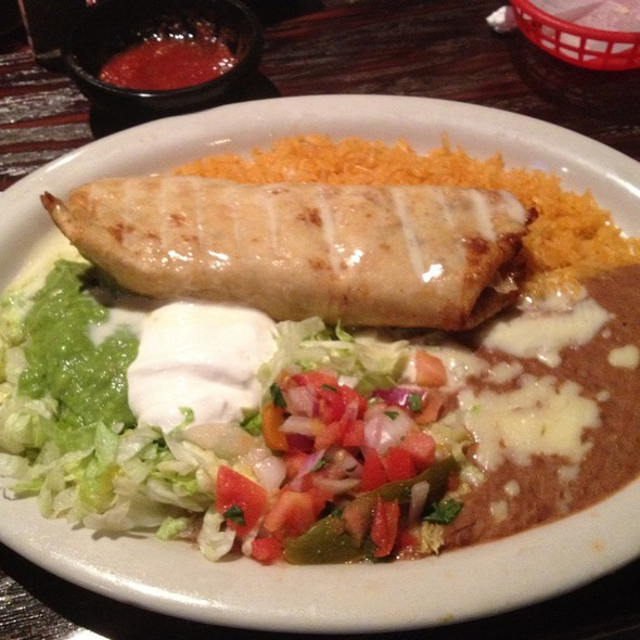 Shredded Beef Chimichanga at Papito's Mexican