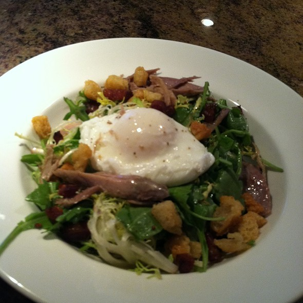 Duck Salad - Confit, Lardons, Poached Egg, Cranberries - Tapastre, Somerville, NJ