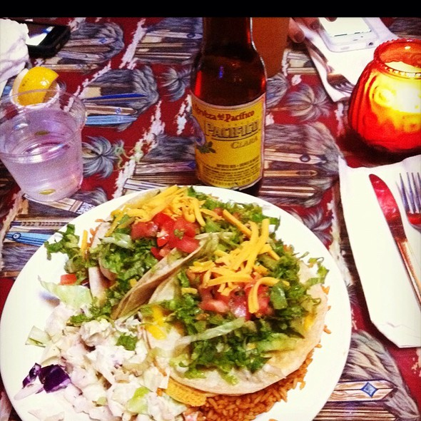 Shrimp Tacos @ Reel Inn Fresh Fish Restaurant