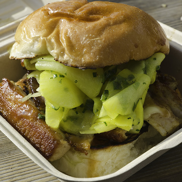 Pork Belly with Pickled Daikon Bun @ Chairman Bao Truck