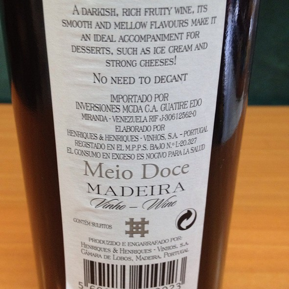 Madeira Wine @ One Way Minimarket