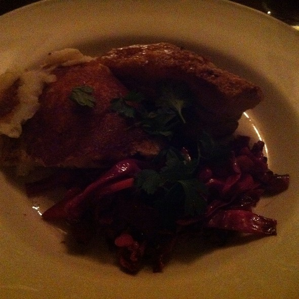 Pork belly with braised red cabbage @ Feast Restaurant