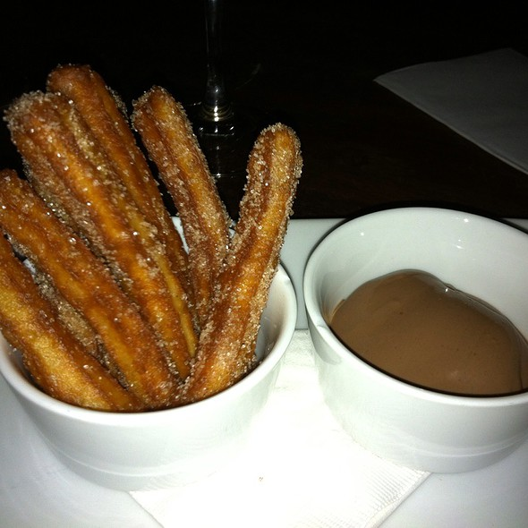 Cinnamon Churros, Chocolate Sauce