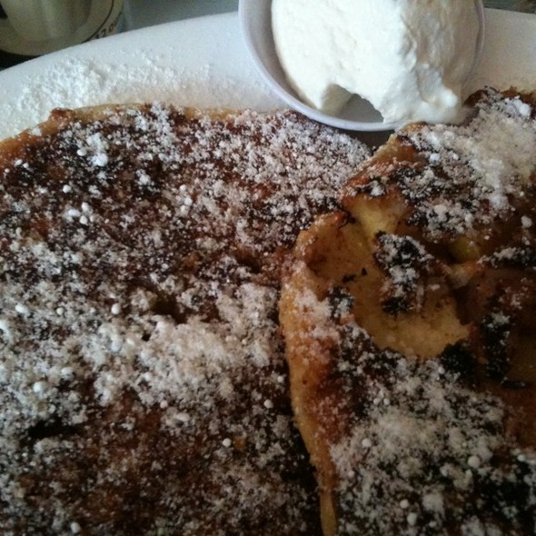 Brown betty pear Pancakes @ Brendas French Soul Food