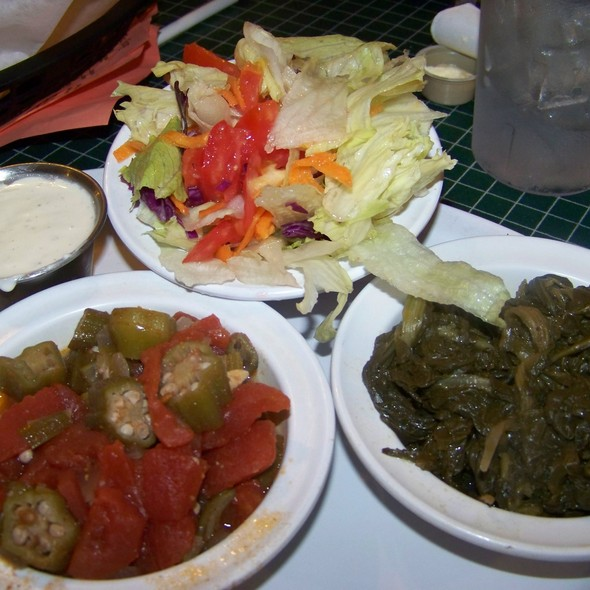 Okra and tomatoes @ Little Tea Shop