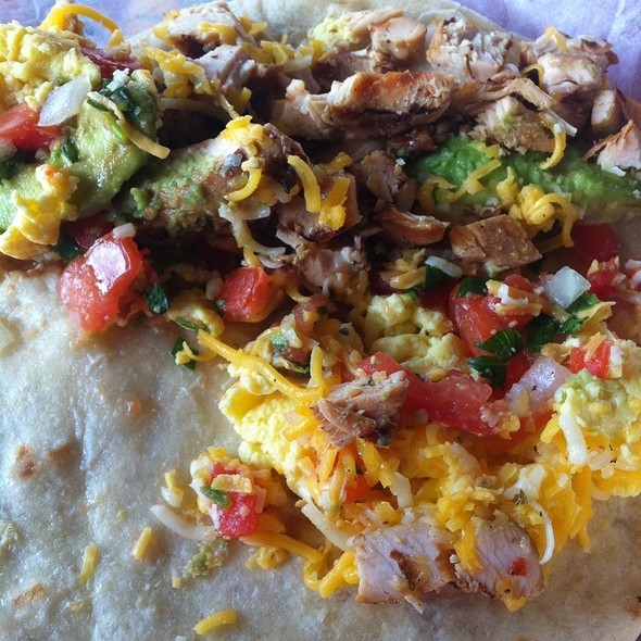 Chicken Fajita Breakfast Taco