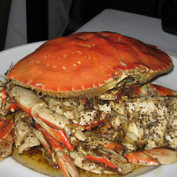 Cracked Whole Roasted Dungeness Crab @ Crustacean Restaurant