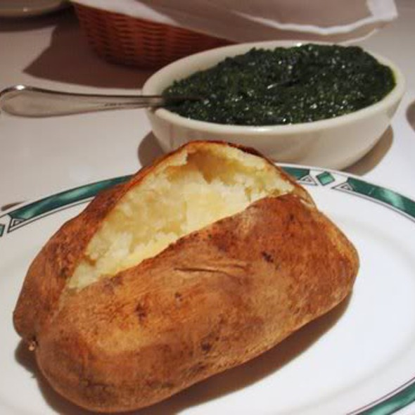 Baked Potato and Creamed Spinach - Ben and Jack's Steakhouse 44th Street, New York, NY