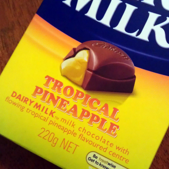 Tropical Pineapple Dairy Milk Chocolate @ Coles