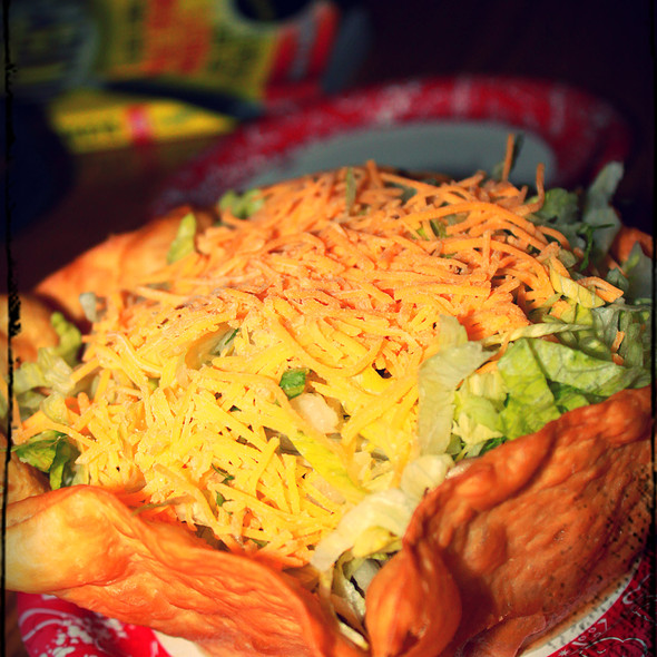 Taco Salad @ Pecos Bill Tall Tale Inn & Café