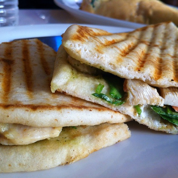 Mediterranean Chicken Breast Panini - Golden Crepes, New York, NY