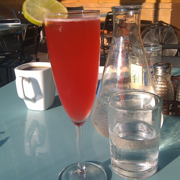 Pomegranate-lime Mimosa @ Snack Bar