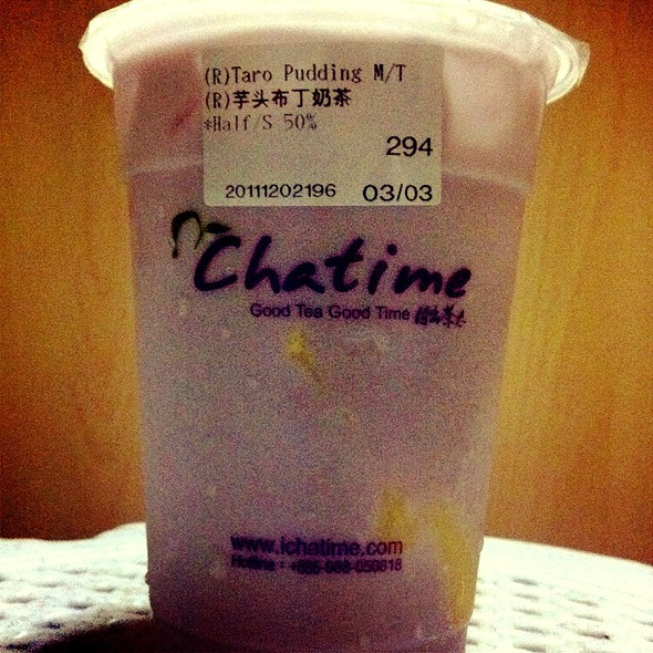 Taro Pudding Milk Tea @ Chatime (Novena Square)