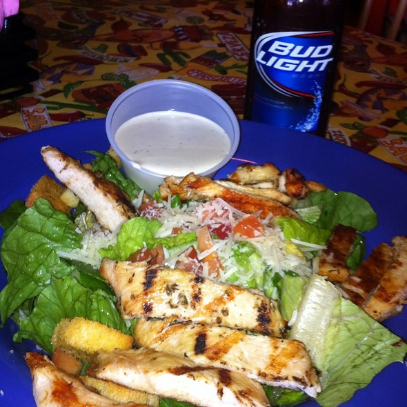 Chicken Caesar Salad And A Bud Light  @ Fish Head Cantina