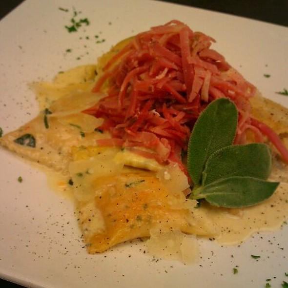 Homemade Sweet Potato Agnolotti, Prosciutto/Sage
