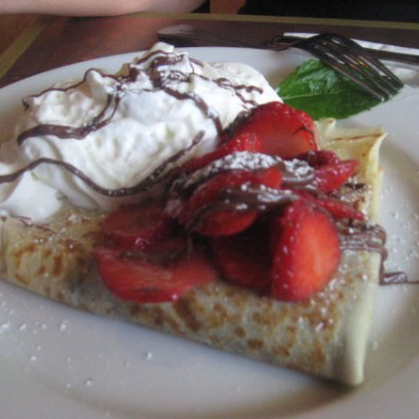 Nutella Crepes with Strawberry @ Crepeville Sacramento