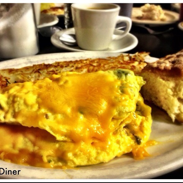 Avocado, Bacon And Cheddar (Abc) Omelette @ Phill's Diner