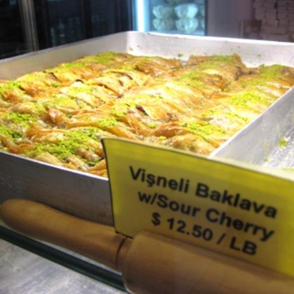 Sour cherry baklava @ Gulluoglu Baklava Cafe