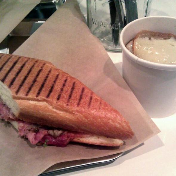 Cuban Sandwich w/onion soup @ Volt Lunchbox