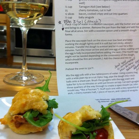 Blt Gougères  @ Relish Culinary Adventures