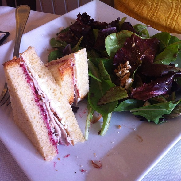 Goat Cheese And Turkey Sandwich @ Chat Noir