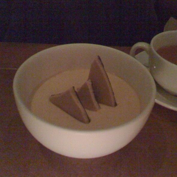 Butterscotch and chocolate pot de crème @ Town Hall Restaurant