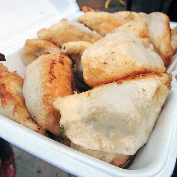 Fried Pork And Chive Dumplings @ Prosperity Dumpling