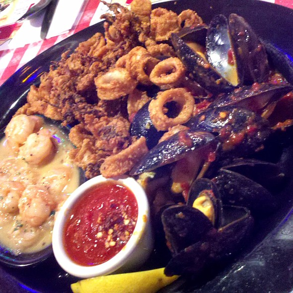 Seafood Trio Platter @ Buca di Beppo - Houston - Buffalo Speedway
