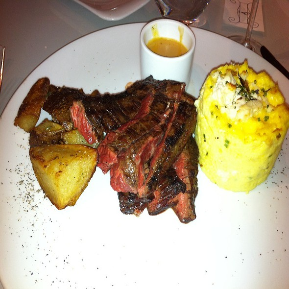 Steak and Eggs with Hashbrowns @ The Forge Restaurant & Wine Bar
