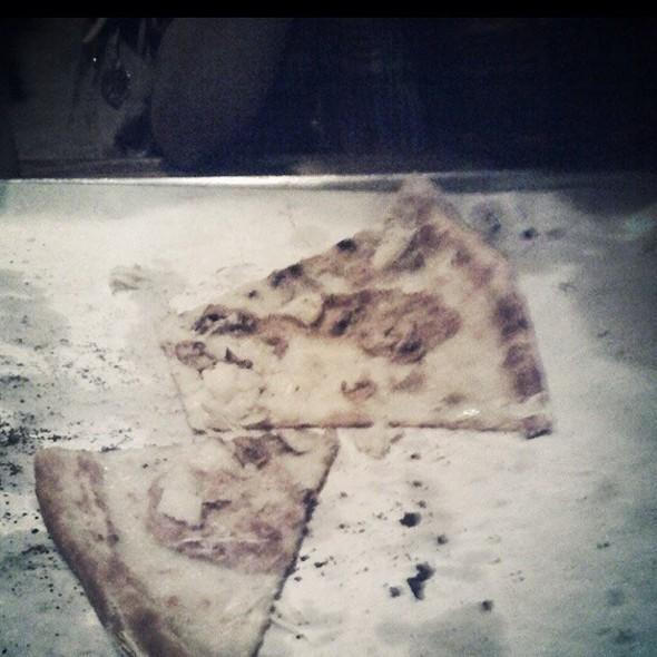 White Pizza W/ Mozzarella, Bacon, Sun-Dried Tomatoes - URBN Coal Fired Pizza, San Diego, CA