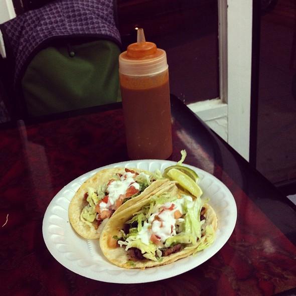 Chorizo Taco And Cesina Taco Con Todo @ Taco Santana
