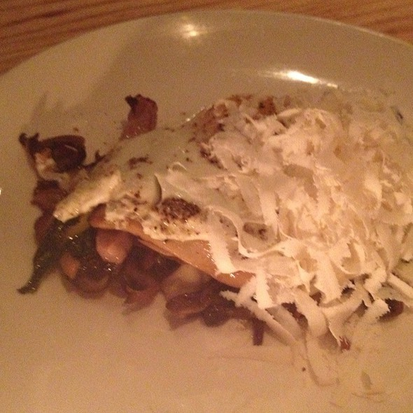 wild mushrooms with fried egg and compressed ricotta @ L'Artusi Restaurant