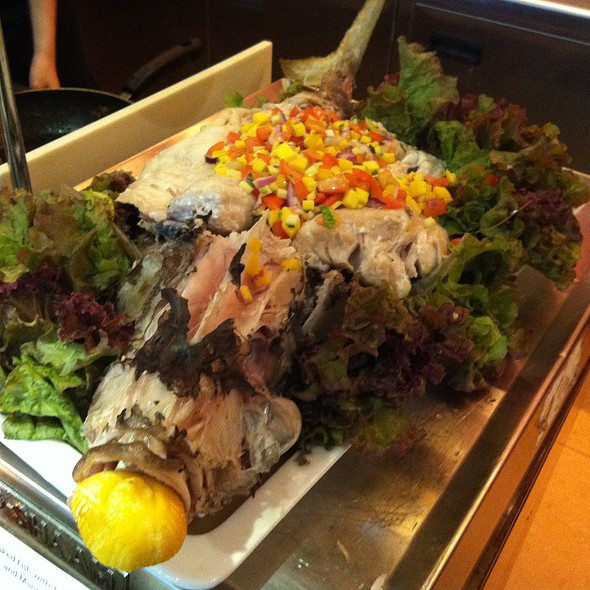 Baked Fish with Tomato & Mango Salsa @ Taal Vista Hotel Buffet