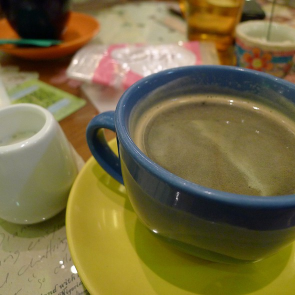 Brewed Coffee with Vanilla Cream @ Cafe Mary Grace