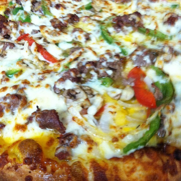 Philly Steak Pizza @ Mm Mm Pizza Mcmurray