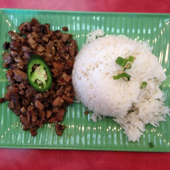 Sisig W/Rice @ Kadok's - House of Mami-Siopao
