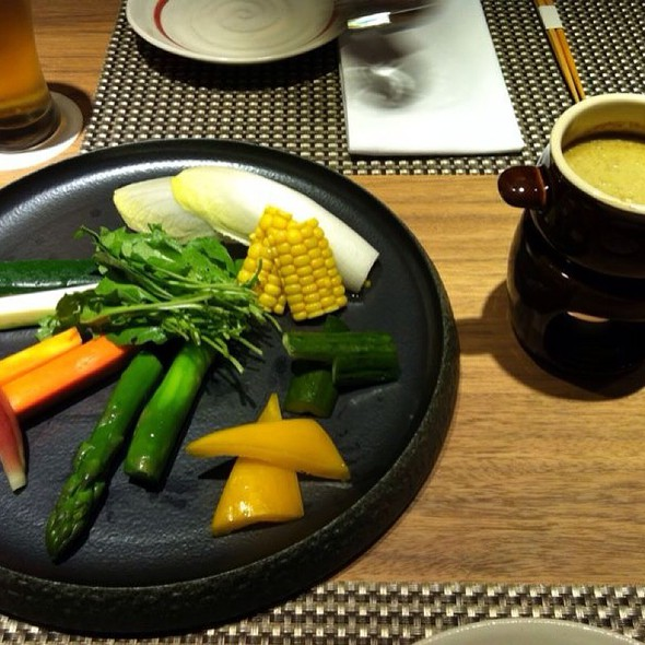Fresh Raw Vegetables Served W/ Crab Miso (Kani Miso) Sauce